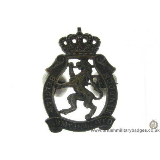 A1D/33 - Belgian Army In Exile United Kingdom Belgium Cap Badge