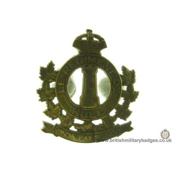 A1D/43 - Le Regiment De Hull Canadian Cap Badge