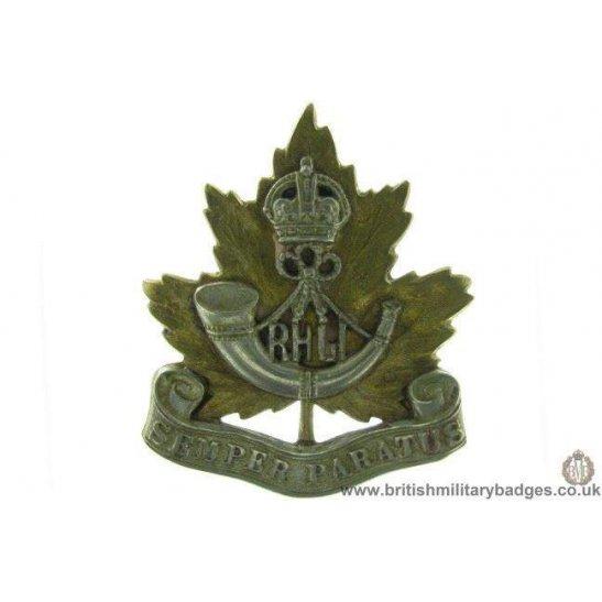 A1D/49 - Royal Hamilton Light Infantry RHLI Canadian Cap Badge