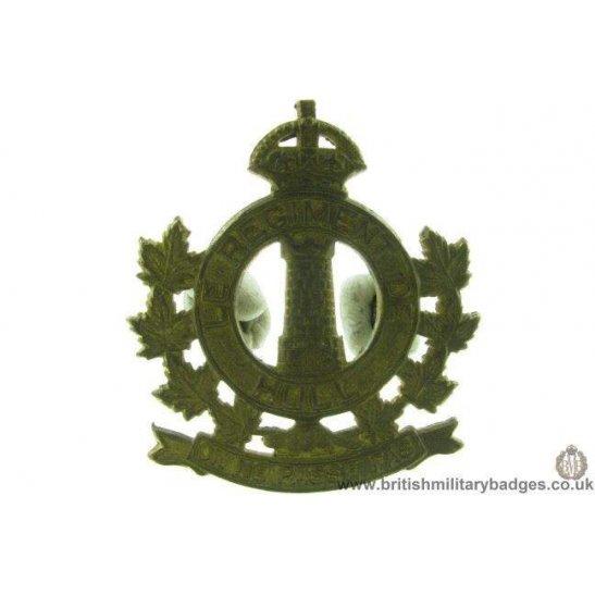A1D/50 - Le Regiment De Hull Canadian Cap Badge