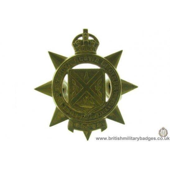 A1D/56 - West Nova Scotia Regiment Canadian Cap Badge