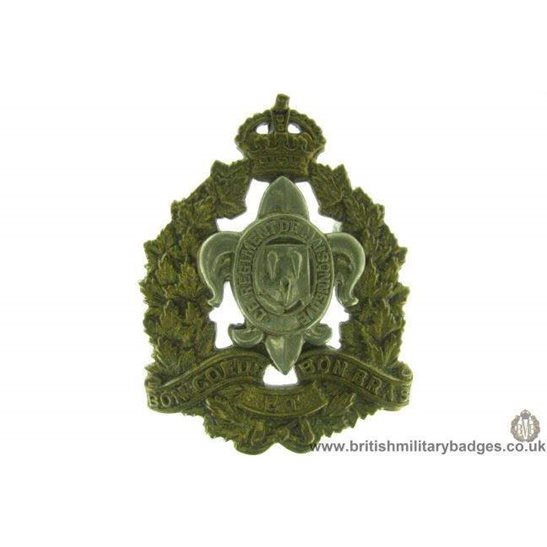 A1D/58 - Le Regiment De Maisonneuve Canadian Cap Badge