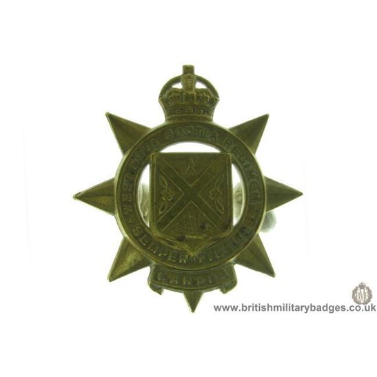 A1D/69 - West Nova Scotia Regiment Canadian Cap Badge
