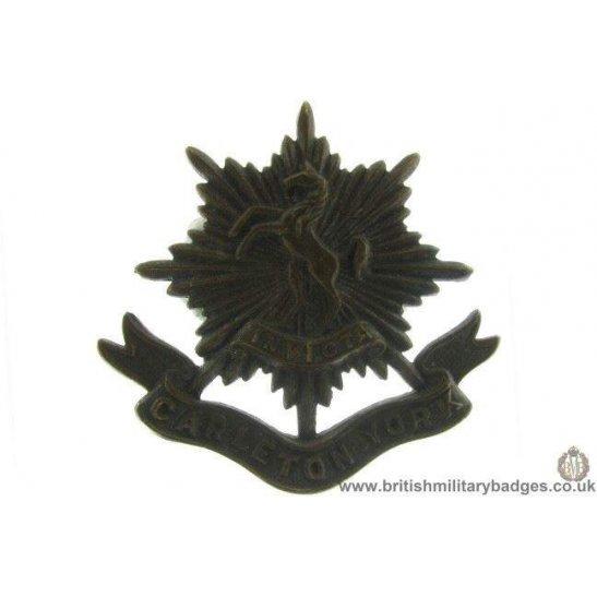 A1D/72 - The Carleton & York Regiment Canadian Cap Badge