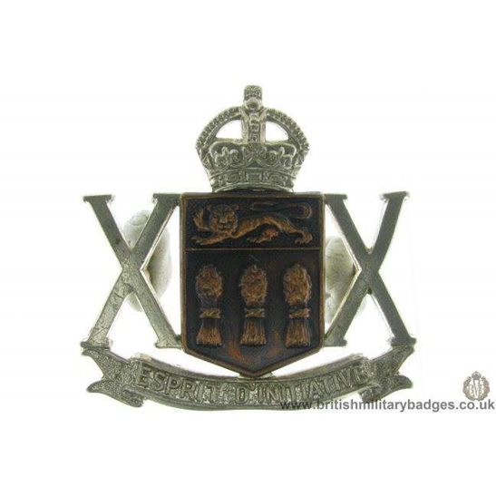 A1D/74 - 20th Armoured Car Regiment Canadian Cap Badge