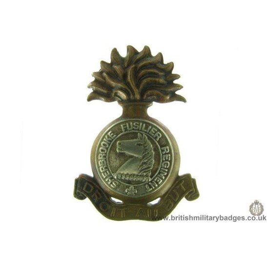 A1D/75 - Sherbrooke Fusilier Regiment Canadian Cap Badge