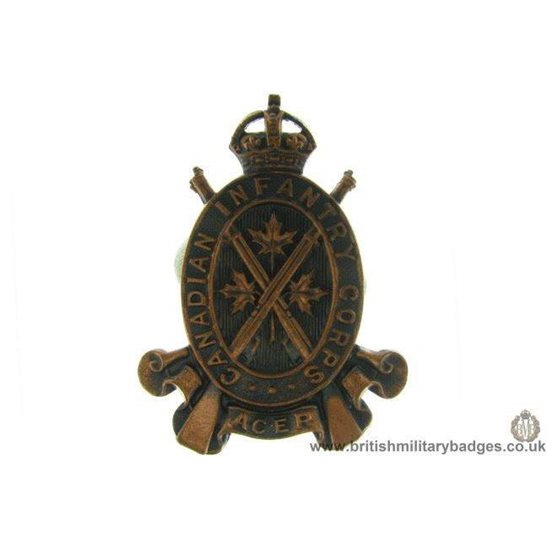 A1D/77 - Canadian Infantry Corps Cap Badge
