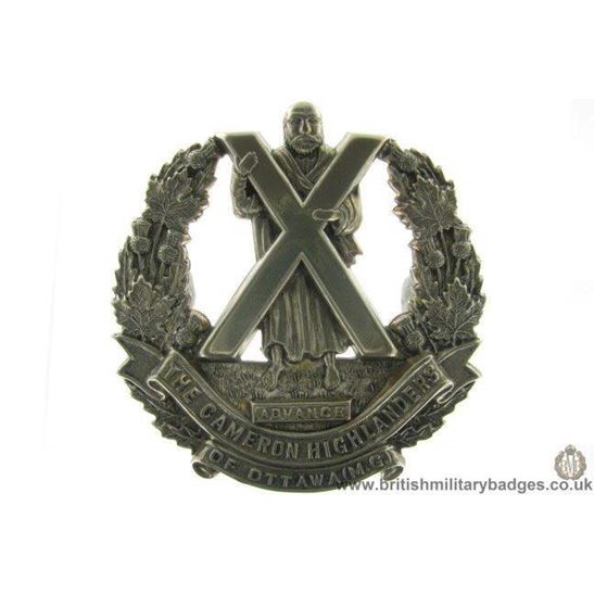 A1D/84 Cameron Highlanders of Ottawa Regiment Canadian Cap Badge