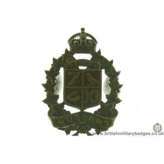 A1D/88 - 7th / 11th Hussars Regiment Canadian Cap Badge