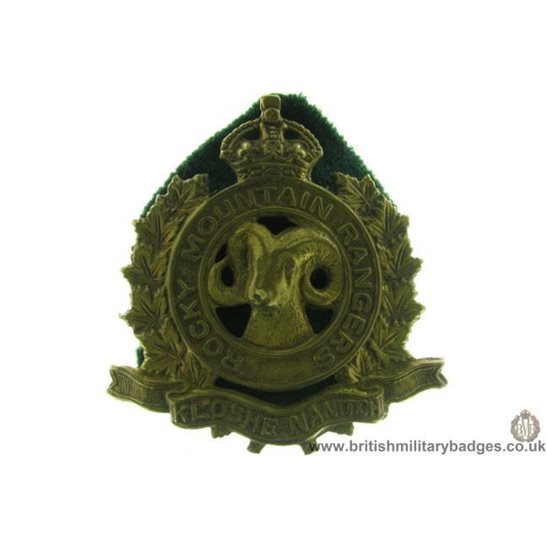 A1D/91 - Rocky Mountain Rangers Regiment Canadian Cap Badge