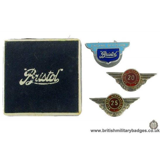 additional image for GM/39 Rare Set Bristol Aircraft Company Lapel Badges & WW2 Medal