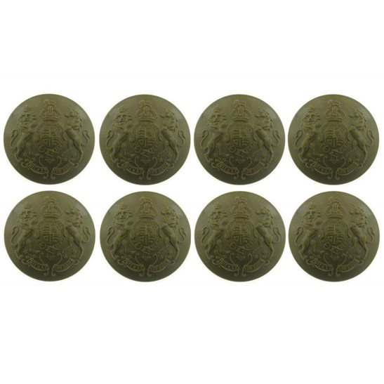 M1A/01 - 8x WW2 Economy Issue PLASTIC General Service Buttons