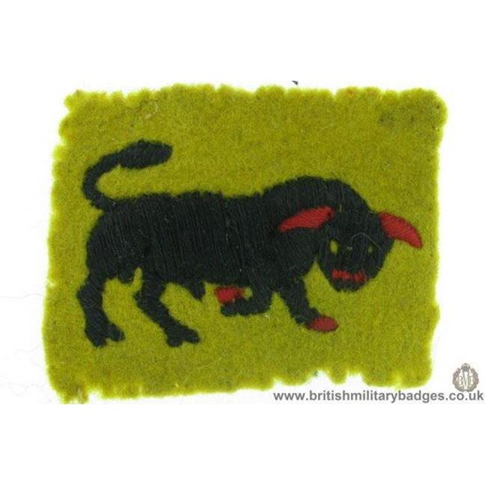 additional image for E1A/33 - 9th Armoured Division Formation Sign Patch Badge