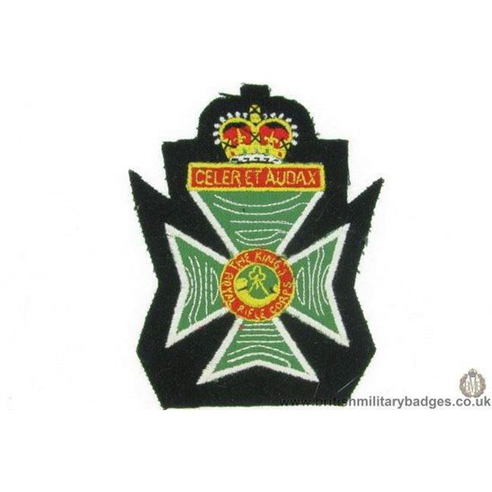 R1B/09 - The King's Royal Rifle Corps KRRC Kings Blazer Badge