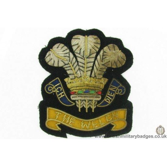 R1B/11 - The Welch / Welsh Regiment WIRE Blazer Badge