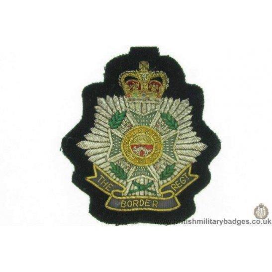 R1B/12 - The Border Regiment WIRE Blazer Badge