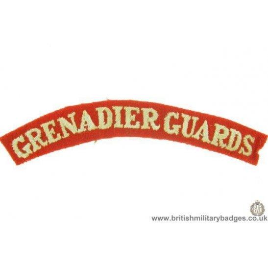 E1A/82 - The Grenadier Guards Regiment Cloth Shoulder Title
