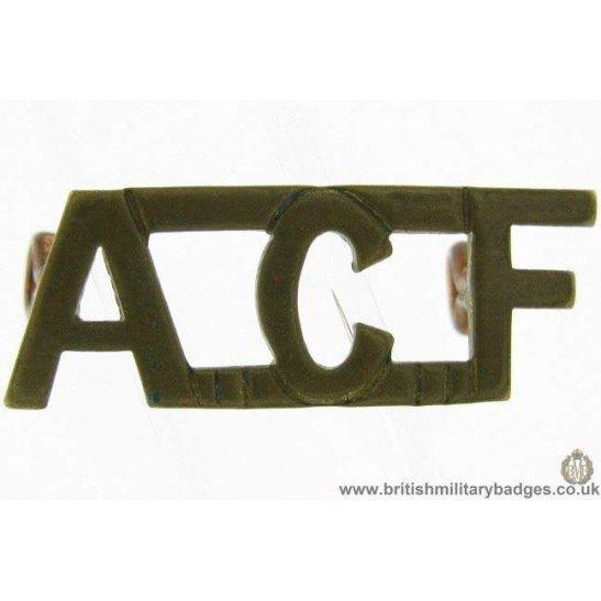 C1D/68 - Army Cadet Force ACF Shoulder Title