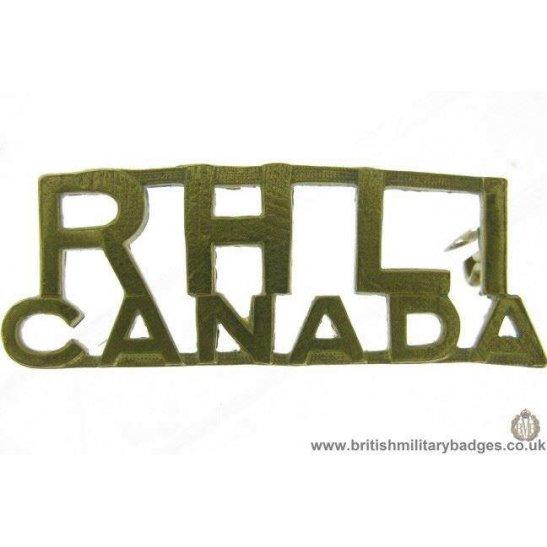 C1D/84  Royal Hamilton Light Infantry RHLI Canada Shoulder Title