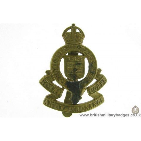 A1E/33 - Royal Army Ordnance Corps RAOC Cap Badge