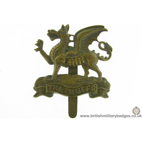 """A1E/84 - Royal East Kent """"The Buffs"""" Regiment Cap Badge"""