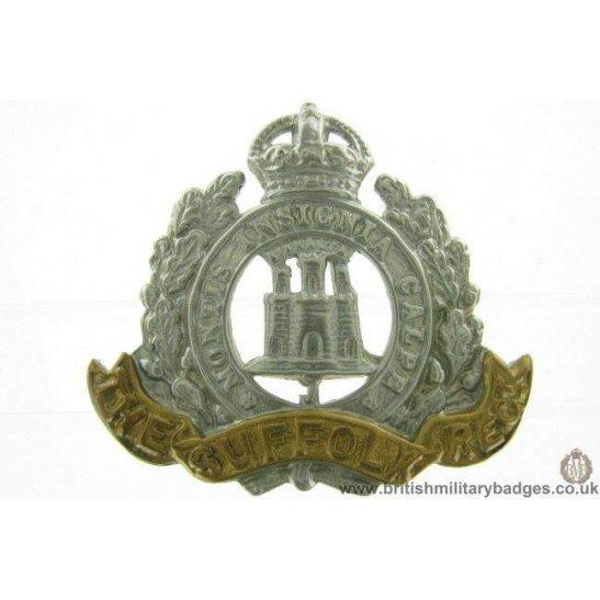 A1F/13 - EDWARDIAN The Suffolk Regiment Cap Badge - LUGS