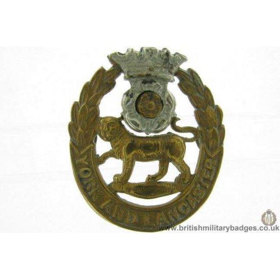 A1F/16 - VICTORIAN York & Lancaster Regiment Cap Badge - LUGS