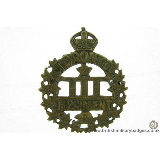 A1F/21 - WW1 Toronto Regiment 3rd Overseas Battalion Cap Badge