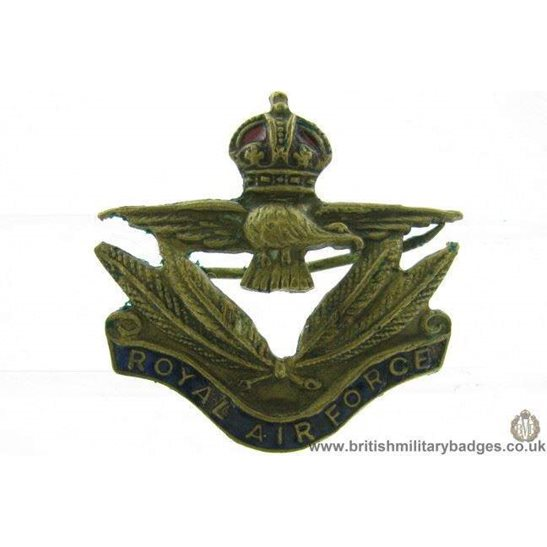"""additional image for A1F/29 - Royal Engineers Corps """"George VI"""" Cap Badge"""