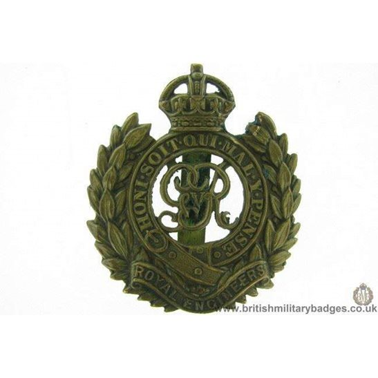"A1F/30 - Royal Engineers Corps ""George V"" Cap Badge"