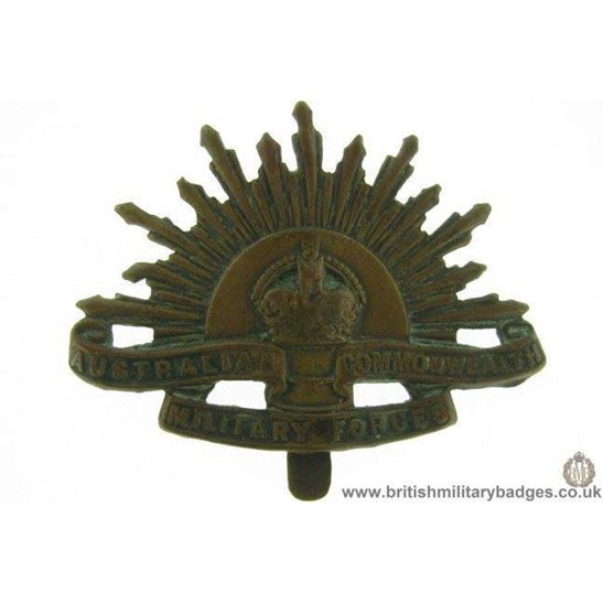 A1F/44 Australian Commonwealth Military Forces Cap Badge MAKERS