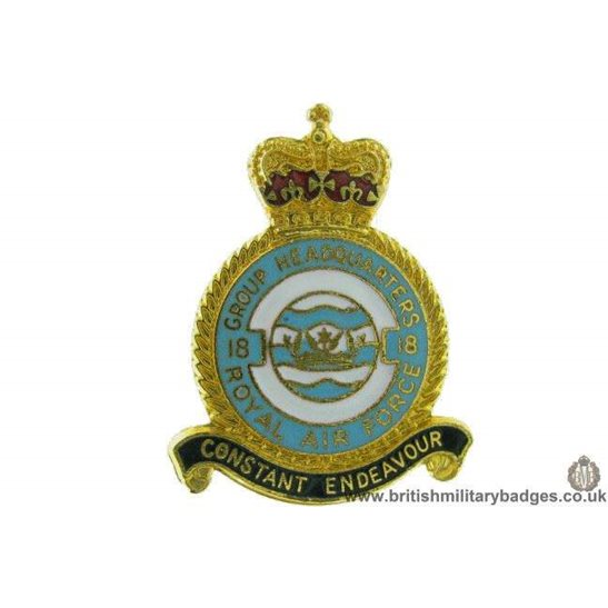 K1A/19 - 18 Group Headquarters Royal Air Force Lapel Badge RAF