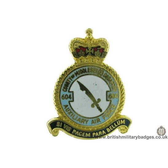 K1A/60 - 604 Middlesex Squadron Royal Air Force Lapel Badge RAF