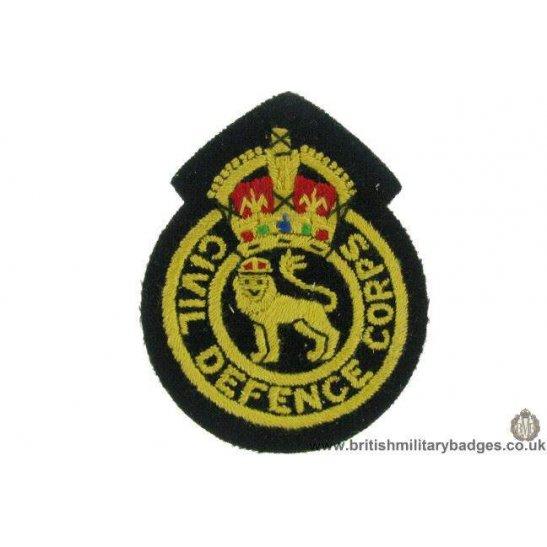 R1B/13 - Civil Defence Corps CDC Blazer Badge