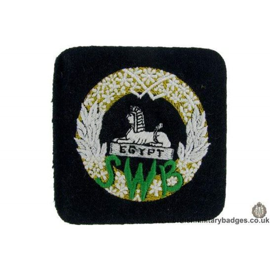 R1B/25 - South Wales Borderers SWB Regiment Blazer Badge