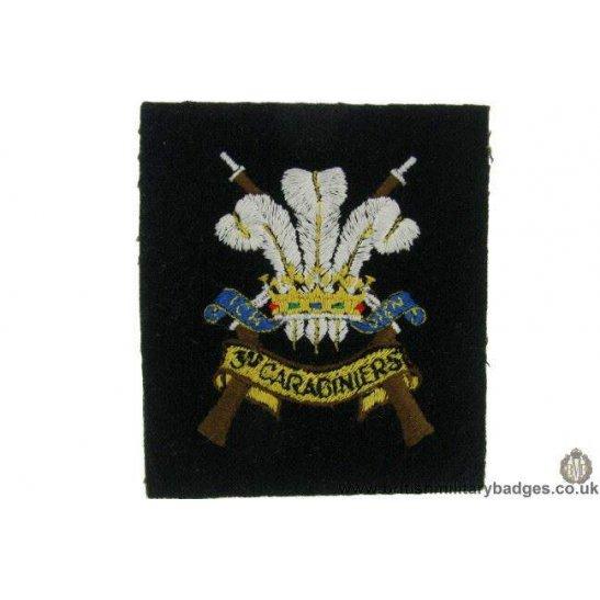 R1B/27 - 3rd Carabiniers Regiment Blazer Badge