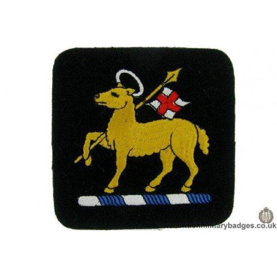 R1B/35 - The Queen's West Surrey Regiment Queens Blazer Badge