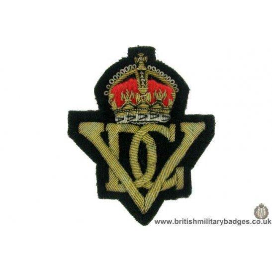 R1B/47 - 5th Inniskilling Dragoon Guards Regt. WIRE Blazer Badge