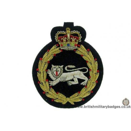 R1B/53 - The Kings Own Royal Border Regiment WIRE Blazer Badge