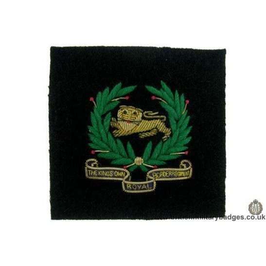 R1B/56 - The Kings Own Royal Border Regiment WIRE Blazer Badge