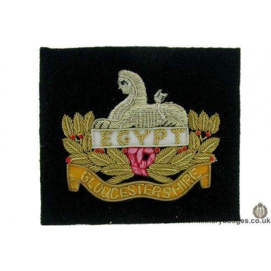 R1B/72 - Gloucester / Gloucestershire Regiment WIRE Blazer Badge