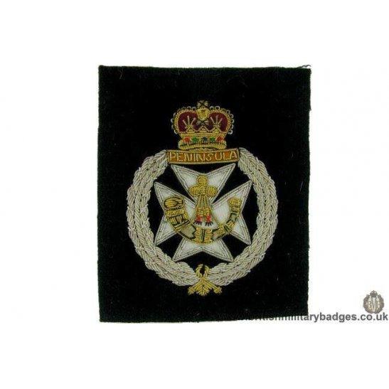 R1B/73 The Royal Greent Jackets Rifle Regiment WIRE Blazer Badge