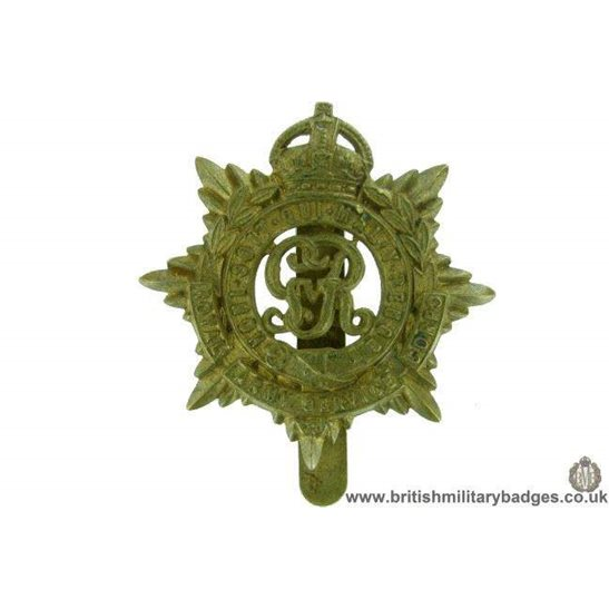 "A1F/52 - Royal Army Service Corps ""George V"" RASC Cap Badge"