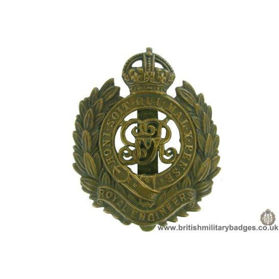 "A1F/53 - Royal Engineers Corps ""George V"" Cap Badge"