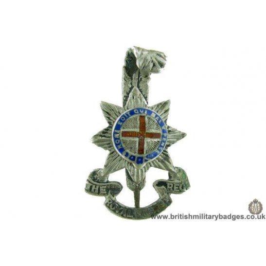 A1G/04 - Royal Sussex Regiment OFFICERS Metal & Enamel Cap Badge