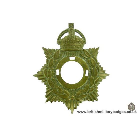 A1G/05 - Generic Edwardian / WW1 Kings Crown Helmet Plate Centre