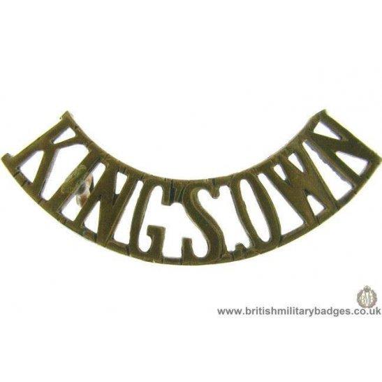 C1F/35 - Kings Own King's Regiment Shoulder Title