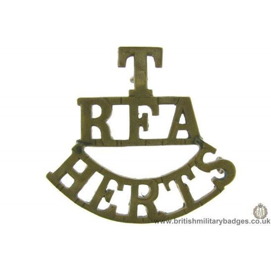 C1F/71 - Territorial RFA Hertfordshire Shoulder Title