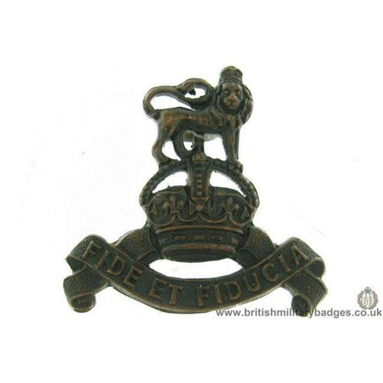 B1D/34 - Royal Army Pay Corps OFFICERS Bronze RAPC Collar Badge