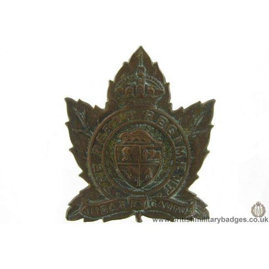 A1G/21 - The 28th Perth Regiment Canadian Cap Badge